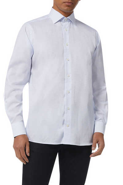 Contemporary Fit Micro Square Shirt