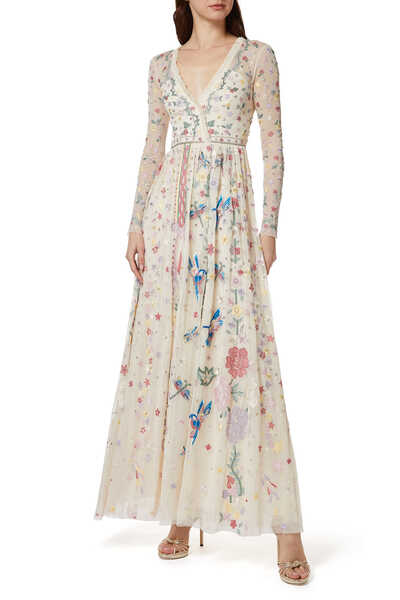 Elements Embroidered Gown