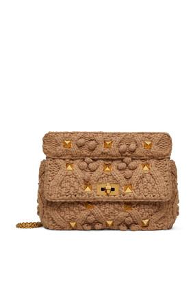 Valentino Garavani Roman Stud Knitted Bag