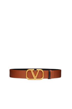 VLogo Signature Leather Belt
