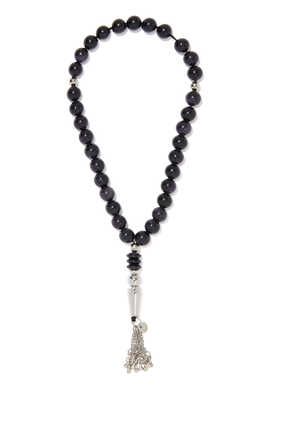 Black Acetate Worry Beads
