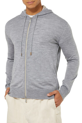 Cotton Contrast Hoodie