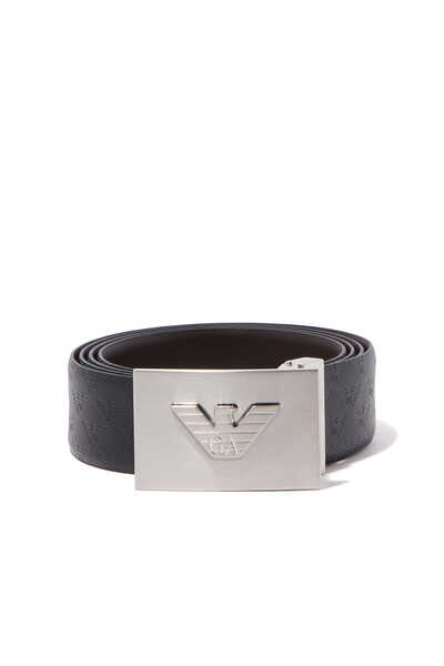 Black Eagle Plaque Buckle Reversible Belt