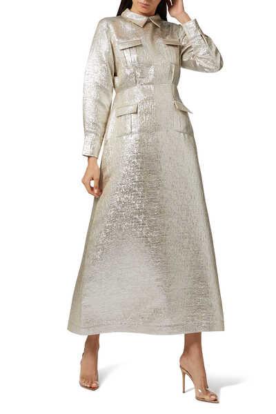 Metallic Shirt Dress