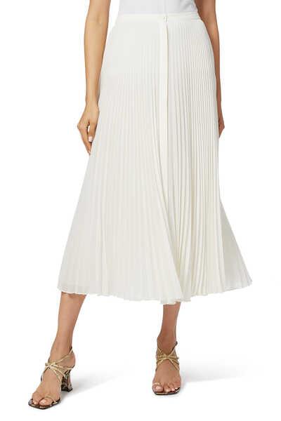 Pleated Silk Georgette Skirt