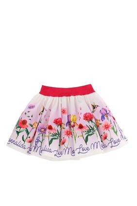 Floral Poplin Skirt