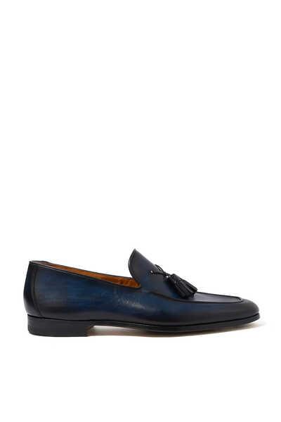 Flex Leather Tassel Loafers