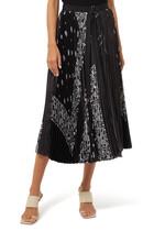 Paisley Print Pleated Skirt