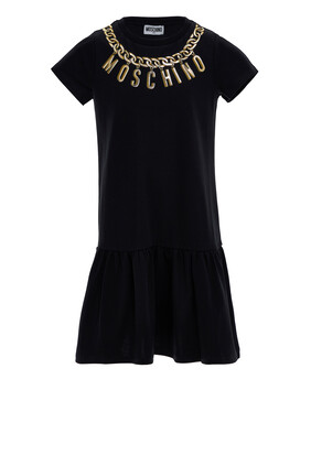 Chain Logo Print Dress