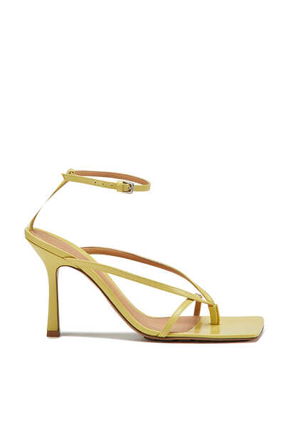 Strappy Leather Stretch Sandals