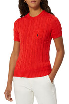 Cable Short Sleeves Sweater