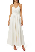 Katsina Lace-Up Poplin Dress
