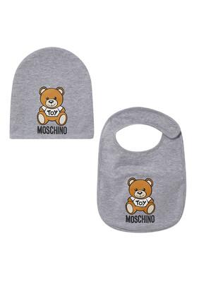 Teddy Bear Bib and Hat Set