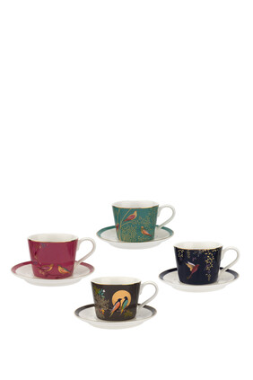 Chelsea Collection Espresso Cups & Saucers, Set of 4