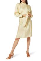 Multi-Stripe Silk Shirt Dress