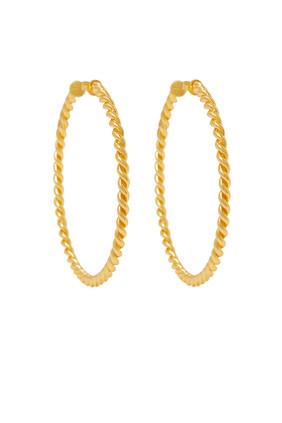 Xavier Rope Hoop Earrings
