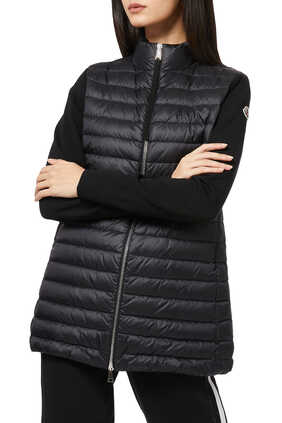 Long Quilted Wool Jacket
