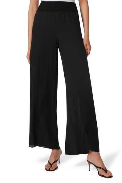 High-Rise Silk Pants
