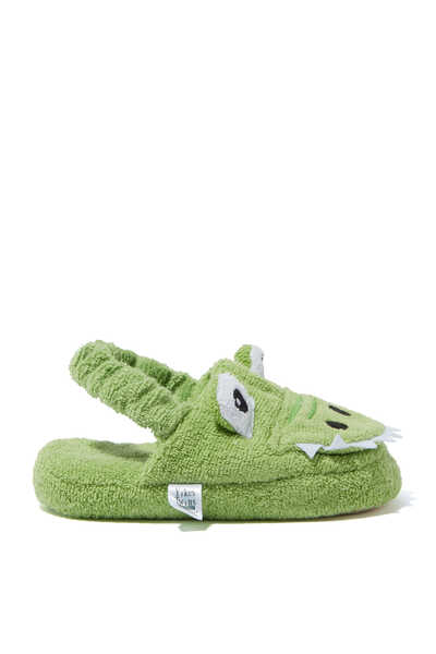 Alligator Cotton Slippers