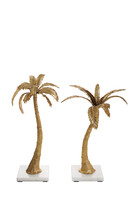 Palm Candlestick Holders Mixed Pair