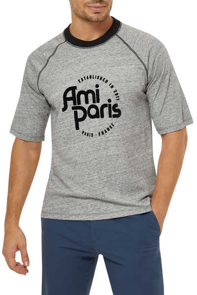 Chine Flock Cotton T-Shirt