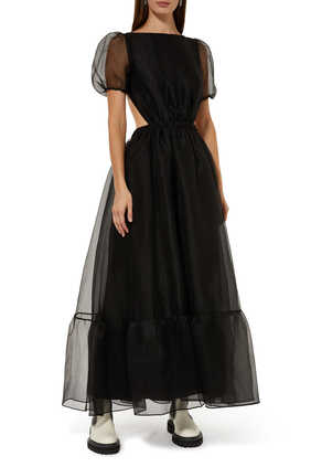 Penelope Organza Puff Sleeve Dress