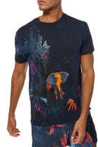 Mural Jungle Print T-Shirt
