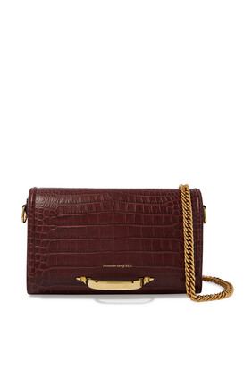 Croc-Embossed Leather Bag