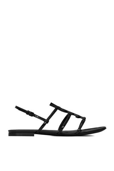 Cassandra Open Sandals in Patent Leather
