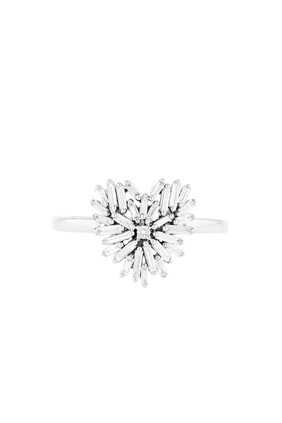 Fireworks Small Heart Diamond Ring