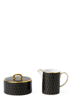 Arris Accent Cream and Sugar Set of Two