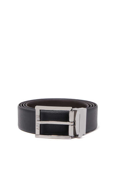 Reversible Leather Buckle Belt