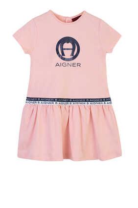 Logo Print Dress