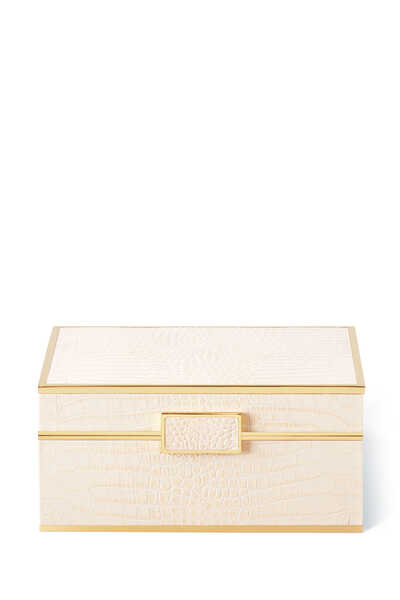 Classic Croc Leather Small Jewelry Box
