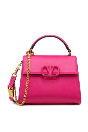 VSLING Mini Leather Top Handle Bag