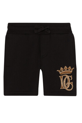 Embroidered Cotton Bermuda Shorts