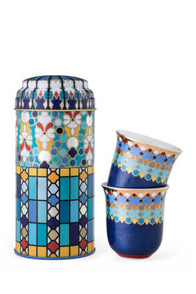 Musée Sursock Vitrail Tin Box With Cups, Set of Two