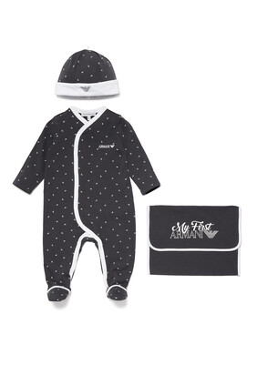 Sleepsuit, Hat and Pouch Set