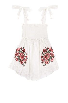 Poppy Embroidered Dress