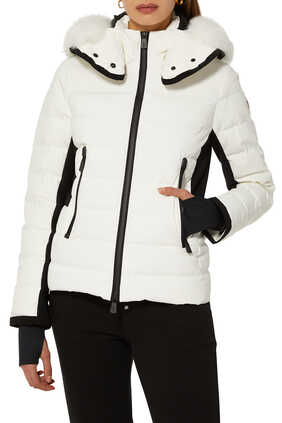 White Down Paneled Jacket