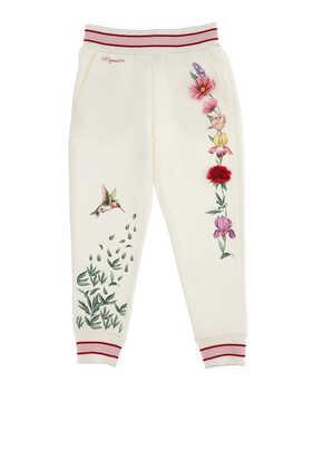 Flower Cotton Sweatpants