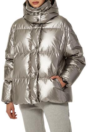 Gris Metallic Quilted Jacket