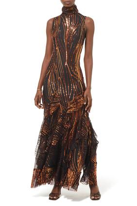 Ruffled Maxi Dress