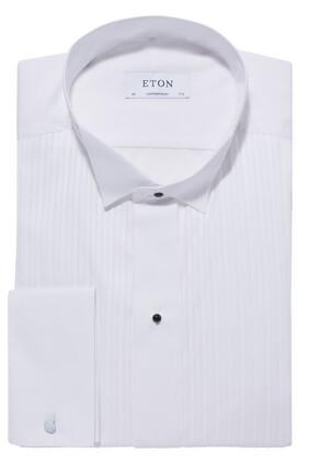 Contemporary Fit Plissé Wing Collar Shirt