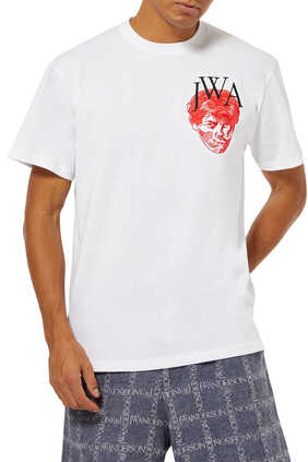 Embroidered Face and Logo T-Shirt