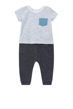 Striped T-Shirt & Joggers Set