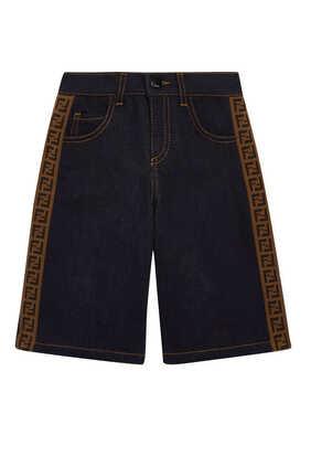 FF Band Denim Shorts