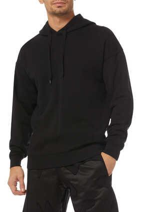 Oversized Logo Patch Hooded Sweatshirt