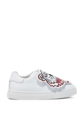JU SLIP ON SNEAKER W TIGER:WHITE:30