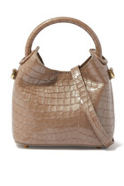 Madeleine Croc-Embossed Leather Bag
